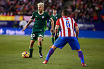 Atletico de Madrid's Koke Resurrección and Real Betis's Dani Ceballos during La Liga match between Atletico de Madrid and Real Betis at Vicente Calderon Stadium in Madrid, Spain. January 14, 2017. (ALTERPHOTOS/BorjaB.Hojas)