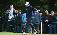 Graeme McDowell (NIR) working out the line of the putt on the 16th  during the Final Round of the British Masters 2015 supported by SkySports played on the Marquess Course at Woburn Golf Club, Little Brickhill, Milton Keynes, England.  11/10/2015. Picture: Golffile | David Lloyd<br /> <br /> All photos usage must carry mandatory copyright credit (&copy; Golffile | David Lloyd)