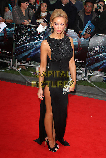 Lauren Pope.UK Premiere of 'The Amazing Spider-Man' at the Odeon, Leicester Square, London, England..June 18th 2012.full length black dress sleeveless slit split clutch bag silver .CAP/ROS.©Steve Ross/Capital Pictures.