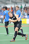 The Hague, Netherlands, June 03: Nick Haig #4 of New Zealand warms up before the field hockey group match (Men - Group B) between South Africa and the Black Sticks of New Zealand on June 3, 2014 during the World Cup 2014 at GreenFields Stadium in The Hague, Netherlands. Final score 0:5 (0:3) (Photo by Dirk Markgraf / www.265-images.com) *** Local caption ***