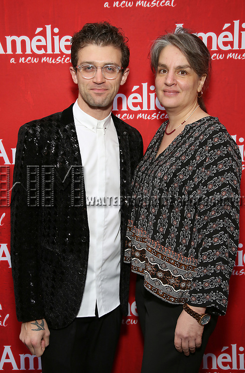 Sam Pimkleton and Pam MacKinnon attend the Broadway Opening Night performance of 'Amelie' at the Walter Kerr Theatre on April 3, 2017 in New York City