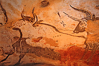 Europe/France/Aquitaine/24/Dordogne/Périgord Noir/Grotte de Lascaux/Lascaux II : Peintures rupestres [Non destiné à un usage publicitaire - Not intended for an advertising use]