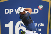 Christiaan Bezuidenhout (RSA) on the 16th tee during the 1st round of the DP World Tour Championship, Jumeirah Golf Estates, Dubai, United Arab Emirates. 21/11/2019<br /> Picture: Golffile | Fran Caffrey<br /> <br /> <br /> All photo usage must carry mandatory copyright credit (© Golffile | Fran Caffrey)