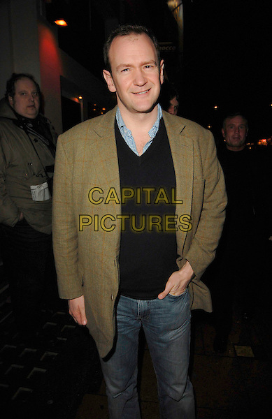 "ALEXANDER ARMSTRONG.The ""Equus"" VIP press night, Gielgud Theatre, London, UK..February 27th, 2007.half length brown suit jacket hand in pocket .CAP/CAN.©Can Nguyen/Capital Pictures"