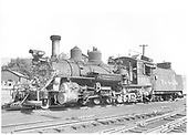 D&amp;RGW #453 K-27 left front view in Durango.<br /> D&amp;RGW  Durango, CO  9/1950