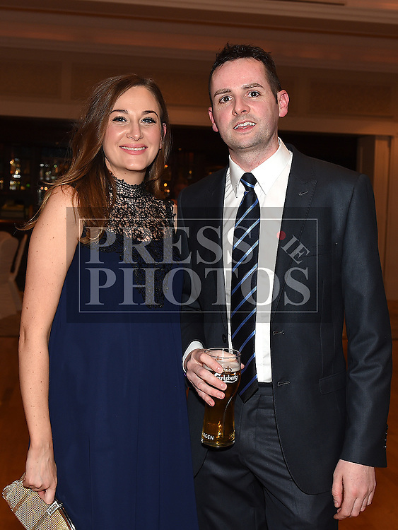 Mark McPhillips and Simona Vitkelyte at the Baile Atha Fherdia Traders Awards in the Nuremore hotel Carrickmacross. Photo:Colin Bell/pressphotos.ie
