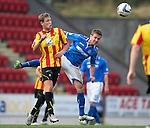 St Johnstone v Partick Thistle...28.09.13      SPFL<br /> James Craigen and Chris Millar<br /> Picture by Graeme Hart.<br /> Copyright Perthshire Picture Agency<br /> Tel: 01738 623350  Mobile: 07990 594431