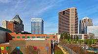 View of the Greensboro, North Carolina skyline in April 2017