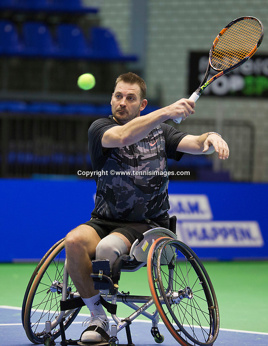 Rotterdam, Netherlands, December 17, 2015,  Topsport Centrum, Lotto NK Tennis, Whelchair semifinal men: Ricky Mllier (NED)<br /> Photo: Tennisimages/Henk Koster