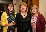 WATERBURY, CT. 11 October 2018-101618 - From left, Diane Nicol of Wolcott, Gail Ciminera of Naugatuck, and Laura Rydlewski of Oakville pose for a photo together during the Habitat for Humanity Food and Wine Festival at the Mattatuck Museum in Waterbury on Thursday. Bill Shettle Republican-American
