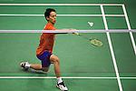 Takuma UEDA of Japan in action while playing against Sameer VERMA of India during the YONEX-SUNRISE Hong Kong Open Badminton Championships 2016 at the Hong Kong Coliseum on 23 November 2016 in Hong Kong, China. Photo by Marcio Rodrigo Machado / Power Sport Images
