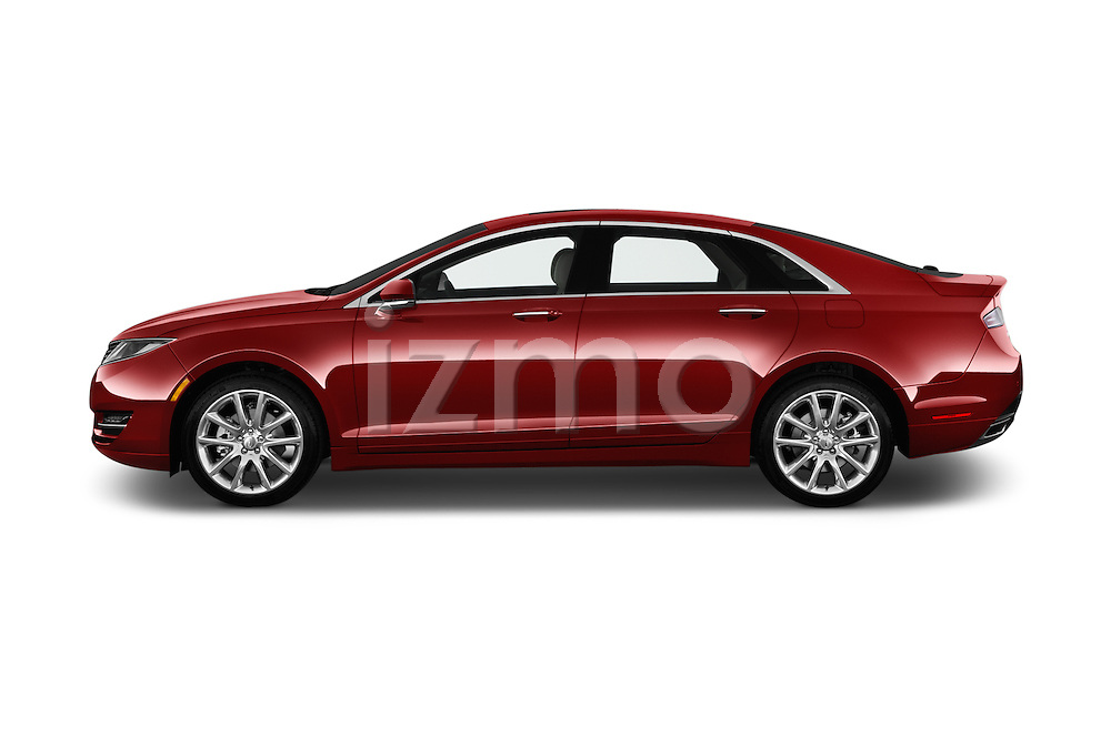 Car Driver side profile view of a 2016 Lincoln MKZ - 4 Door Sedan Side View