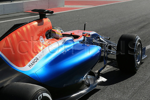 01.03.2016. Barcelona, Spain.  Formula 1 winter car testing at Circuit de Barcelona Catalunya Test 2 Day 1.  Manor Racing MRT05 – Rio Haryanto