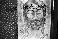 un disegno raffigurante Gesù Cristo nell'ex carcere san Donnino di Como.
