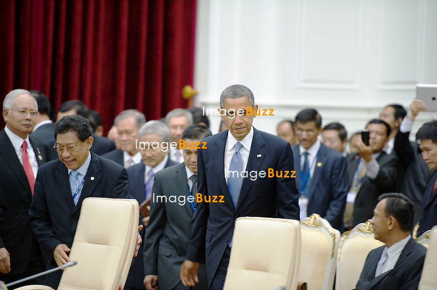 CPE/U.S. President Obama participates in the ASEAN-United States Leaders' Meeting at the Peace Palace in Phnom Penh, Cambodia, November 19, 2012. President Obama is the first U.S. President to visit Cambodia.
