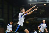 28th September 2017, Goodison Park, Liverpool, England; UEFA Europa League group stage, Everton versus Apollon Limassol; Hector Yuste of Apollon Limassol celebrates his 88th minute equaliser to make it 2-2