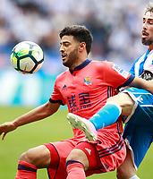 Deportivo de la Coruna's Luisinho Correia (r) and Real Sociedad's Carlos Vela during La Liga match. September 10,2017.  *** Local Caption *** © pixathlon<br /> Contact: +49-40-22 63 02 60 , info@pixathlon.de