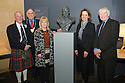 Tommy Douglas Bust Unveiling at the Falkirk Wheel.<br /> LtoR Kenneth Shirra, Pat Reid, Ann Stewart, Helena Huws and Ian Scott.