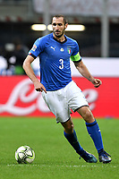 Giorgio Chiellini of Italy in action during the Nations League League A group 3 football match between Italy and Portugal at stadio Giuseppe Meazza, Milano, November, 17, 2018 <br /> Foto Andrea Staccioli / Insidefoto