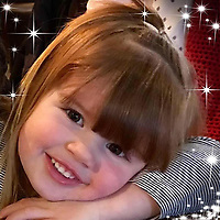 Pictured: Darcy-May Elm<br /> Re: Inquest to be held in Milford Haven Coroner's Court, into the death of four-year-old Darcy-May Elm who was killed in a two-car crash on the A40, west of Carmarthen, Wales on the 27th of October 2018.<br /> Dyfed-Powys Police had to shut the road for seven hours to investigate the crash, which involved a blue Nissan Micra and a black Skoda Fabia.<br /> The family from Swanage, Dorset were on their way for a family break.<br /> Daniel and Dani, Darcy-May's parents had to stay in hospital.