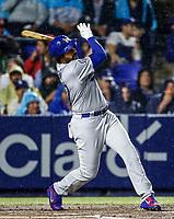 Matt Kemp de los Dodgers , durante el partido de beisbol de los Dodgers de Los Angeles contra Padres de San Diego, durante el primer juego de la serie las Ligas Mayores del Beisbol en Monterrey, Mexico el 4 de Mayo 2018.<br /> (Photo: Luis Gutierrez)