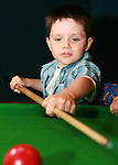 Owen Mallon tries a bit of pool at the Drogheda Leisure Park Fun Day...Photo NEWSFILE/Jenny Matthews.(Photo credit should read Jenny Matthews/NEWSFILE)....This Picture has been sent you under the condtions enclosed by:.Newsfile Ltd..The Studio,.Millmount Abbey,.Drogheda,.Co Meath..Ireland..Tel: +353(0)41-9871240.Fax: +353(0)41-9871260.GSM: +353(0)86-2500958.email: pictures@newsfile.ie.www.newsfile.ie.FTP: 193.120.102.198.