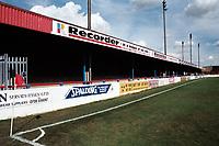Covered terracing at Dagenham & Redbridge FC Football Ground, Victoria Road, Dagenham, Essex, pictured on 31st August 1998
