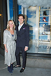 Chief Merchant of Saks Fifth Avenue Tracy Margolies (left) and designer Edgardo Osorio arrive at the Claudia Schiffer for Aquazzura launch event at Saks Fifth Avenue, at 611 Fifth Avenue, in New York City on October 17, 2017.