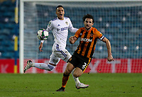 Leeds United's Rodrigo battles with Hull City's Lewie Coyle<br /> <br /> Photographer Alex Dodd/CameraSport<br /> <br /> Carabao Cup Second Round Northern Section - Leeds United v Hull City -  Wednesday 16th September 2020 - Elland Road - Leeds<br />  <br /> World Copyright © 2020 CameraSport. All rights reserved. 43 Linden Ave. Countesthorpe. Leicester. England. LE8 5PG - Tel: +44 (0) 116 277 4147 - admin@camerasport.com - www.camerasport.com