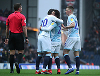 Blackburn Rovers' Danny Graham celebrates scoring his side's first goal <br /> <br /> Photographer Rachel Holborn/CameraSport<br /> <br /> The EFL Sky Bet Championship - Blackburn Rovers v Sheffield Wednesday - Saturday 1st December 2018 - Ewood Park - Blackburn<br /> <br /> World Copyright © 2018 CameraSport. All rights reserved. 43 Linden Ave. Countesthorpe. Leicester. England. LE8 5PG - Tel: +44 (0) 116 277 4147 - admin@camerasport.com - www.camerasport.com