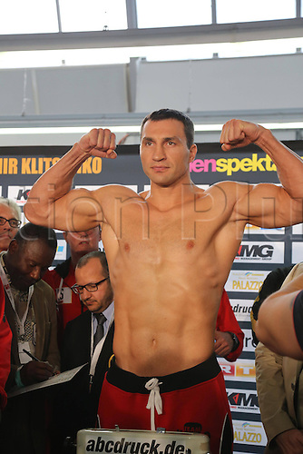 03.05.2013. Manheim, Germany.  Wladimir Klitschko at the pre-fight weigh-in at the  SAP Arena