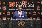 Opening Plenary Meeting of the Nelson Mandela Peace Summit<br /> <br /> His Excellency Regis IMMONGAULT TATANGANIMinister for Foreign Affairs, Cooperation, Francophonie andRegional Integration of Gabon