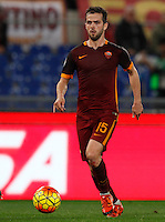 Calcio, Serie A: Roma vs Milan. Roma, stadio Olimpico, 9 gennaio 2016.<br /> Roma's Miralem Pjanic in action during the Italian Serie A football match between Roma and Milan at Rome's Olympic stadium, 9 January 2016.<br /> UPDATE IMAGES PRESS/Riccardo De Luca