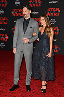 Sofia Vergara &amp; Joe Manganiello at the world premiere for &quot;Star Wars: The Last Jedi&quot; at the Shrine Auditorium. Los Angeles, USA 09 December  2017<br /> Picture: Paul Smith/Featureflash/SilverHub 0208 004 5359 sales@silverhubmedia.com