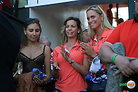 Emotional sister Emma watches with girlfriend Sofia whether Rafa Cabrera-Bello (ESP) can make the tournament to a play-off during the Final Round of the 2016 Omega Dubai Desert Classic, played on the Emirates Golf Club, Dubai, United Arab Emirates.  07/02/2016. Picture: Golffile | David Lloyd<br /> <br /> All photos usage must carry mandatory copyright credit (&copy; Golffile | David Lloyd)