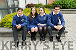 Pobalscoil Chorca Dhuibhne students Proinnsias &Oacute; Cathasaigh, Muireann de<br />  h-&Oacute;ra, Ellen Nic a tSithigh and Sean &Oacute; L&uacute;ing feeling relieved after the first morning of the Leaving Certificate.