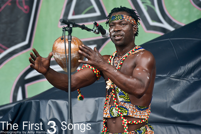 African Showboyz perform during the All Good Music Festival at Legend Valley in Thornville, Ohio.