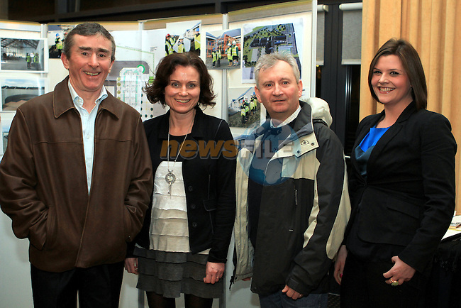 Gerry Lally, Ann Behan, Oisín O'Maolaín and Aine Joyce at the Fundraiser for the New St.Mary's Parish Primary School  in the d Hotel...(Photo credit should read Jenny Matthews www.newsfile.ie)....This Picture has been sent you under the conditions enclosed by:.Newsfile Ltd..The Studio,.Millmount Abbey,.Drogheda,.Co Meath..Ireland..Tel: +353(0)41-9871240.Fax: +353(0)41-9871260.GSM: +353(0)86-2500958.email: pictures@newsfile.ie.www.newsfile.ie.