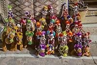 Tunisia, Sidi Bou Said.  Stuffed Camels and Dolls.