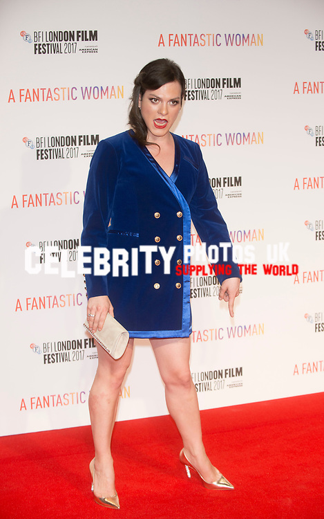 Daniela Vaga at the A FANTASTIC WOMAN – BFI FLARE SPECIAL PRESENTATION (UK PREMIERE), BFI London Film Festival, UK  6th Oct 2017