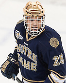 Kevin Lind (ND - 25) - The visiting University of Notre Dame Fighting Irish defeated the Boston College Eagles 2-1 in overtime on Saturday, March 1, 2014, at Kelley Rink in Conte Forum in Chestnut Hill, Massachusetts.