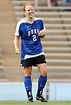 28 August 2009: Duke's Rebecca Allen. The Duke University Blue Devils lost 1-0 to the University of North Carolina Greensboro Spartans at Fetzer Field in Chapel Hill, North Carolina in an NCAA Division I Women's college soccer game.