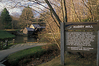 AJ2245, grist mill, Virginia, Blue Ridge Parkway, View of Mabry Mill an old grist mill along the Blue Ridge Parkway in the Southern Appalachians.