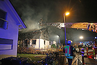 Einsatz beim Hausbrand in Trebur