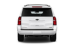 Straight rear view of a 2018 Chevrolet Tahoe Premier 2WD 5 Door SUV stock images