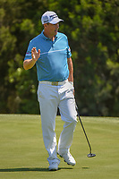 Padraig Harrington (IRL) sinks his putt on 17 during day 1 of the Valero Texas Open, at the TPC San Antonio Oaks Course, San Antonio, Texas, USA. 4/4/2019.<br /> Picture: Golffile | Ken Murray<br /> <br /> <br /> All photo usage must carry mandatory copyright credit (© Golffile | Ken Murray)