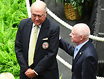 Scenes from the National Museum of Racing Hall of Fame ceremony (Jonathan Sheppard & Chris McCarron) on August 03, 2018 at the Fasig-Tipton Sales Pavilion in Saratoga Springs, New York. (Bob Mayberger/Eclipse Sportswire)