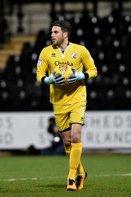 Crawley's Glenn Morris<br /> <br /> Photographer Jon Hobley/CameraSport<br /> <br /> The EFL Sky Bet League Two - Notts County v Crawley Town - Tuesday 23rd January 2018 - Meadow Lane - Nottingham<br /> <br /> World Copyright &copy; 2018 CameraSport. All rights reserved. 43 Linden Ave. Countesthorpe. Leicester. England. LE8 5PG - Tel: +44 (0) 116 277 4147 - admin@camerasport.com - www.camerasport.com
