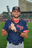 Portland Sea Dogs C.J. Chatham (15) poses for a photo before an Eastern League game against the Erie SeaWolves on June 17, 2019 at UPMC Park in Erie, Pennsylvania.  Portland defeated Erie 6-3.  (Mike Janes/Four Seam Images)