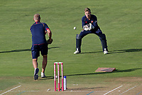 Adam Wheater of Essex warms up ahead of Glamorgan vs Essex Eagles, Vitality Blast T20 Cricket at the Sophia Gardens Cardiff on 7th August 2018